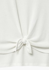 Abercrombie & Fitch - WAFFLE TIE FRONT - Print T-shirt - white - 3