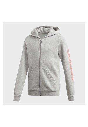 LINEAR HOODIE - Zip-up hoodie - grey