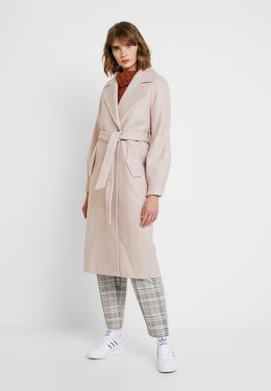 JAZZ HERRING BONE PUFF SLEEVE - Classic coat - apricot