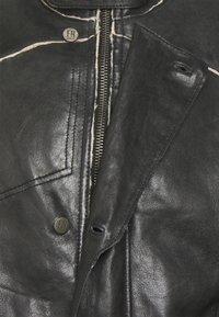 Freaky Nation - TORBEN - Kožená bunda - black/beige - 2