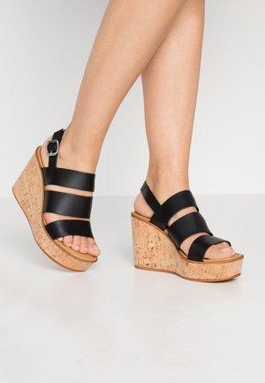 KORSY BAND - High heeled sandals - black