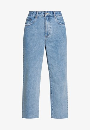 HIGH RISE WIDE LEG - Straight leg jeans - stonewash blue