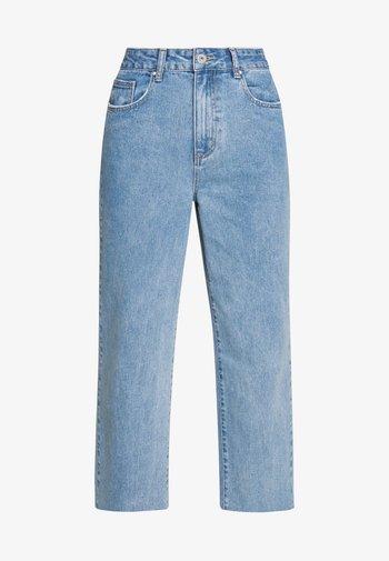 HIGH RISE WIDE LEG - Straight leg jeans - stonewash blue