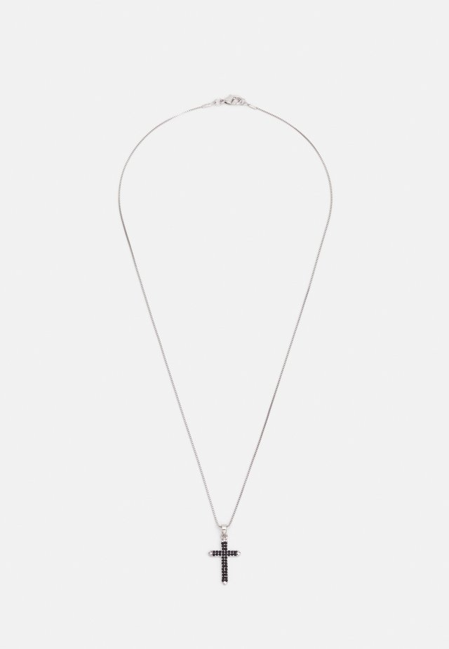 JET CROSS NECKLACE - Ketting - black
