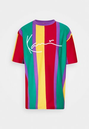 SIGNATURE STRIPE TEE UNISEX - Print T-shirt - purple