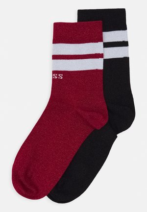 REGULAR SOCKS 2 PACK  - Calcetines - black/red
