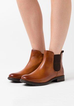 RONJA - Ankle boots - cognac