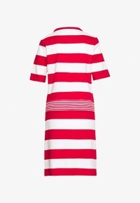 Esprit - JERSEY-KLEID MIT STREIFEN,100%BAUMWOLLE - Sukienka z dżerseju - dark red - 1