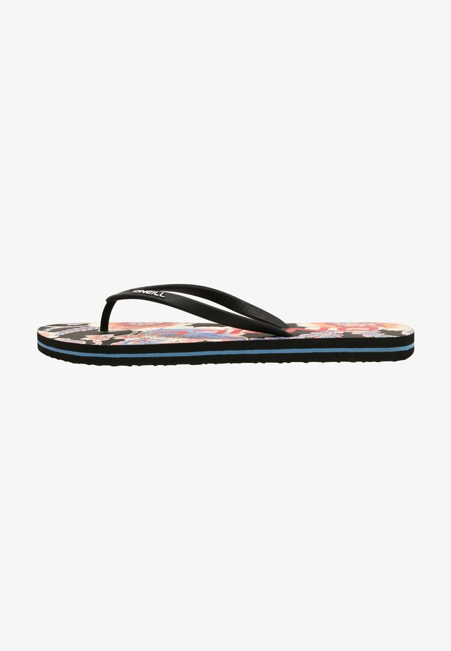 Tongs - black with red
