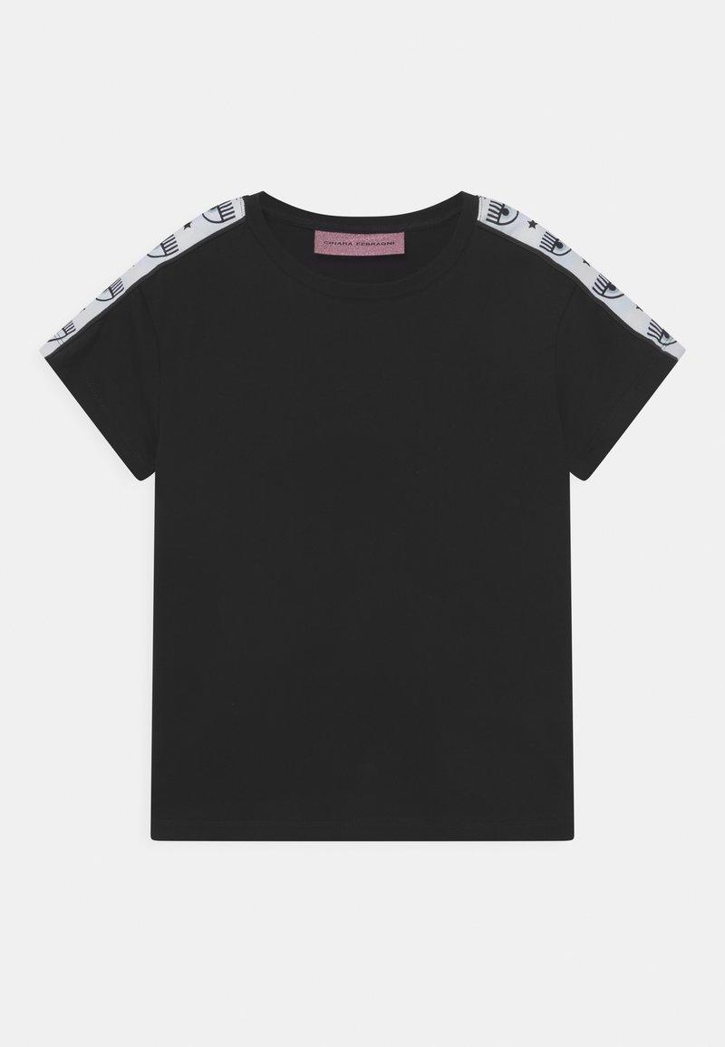 CHIARA FERRAGNI - TAPE ID - Print T-shirt - black