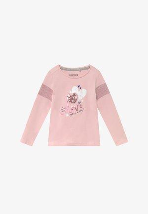 KIDS SEQUIN LOVE HEART - Long sleeved top - rosa