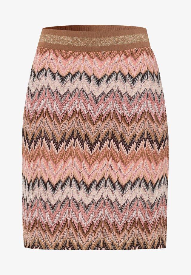ZICK ZACK  - A-line skirt - braun