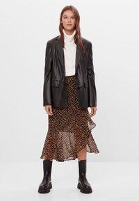 Bershka - A-line skirt - black - 1