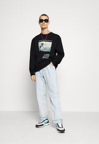 Topman - WAVE - Sweatshirt - black - 1