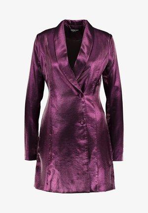 LOREM FASHION UNION METALLIC - Košilové šaty - plum