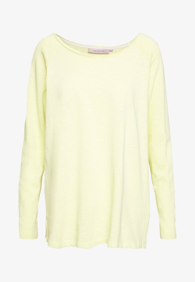 ESSENTIAL HEAVY SLUB - Long sleeved top - lemon grass