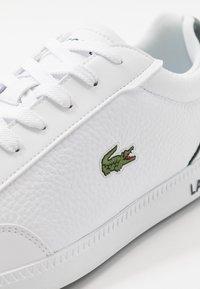 Lacoste - GRADUATECAP - Sneakers basse - white/dark green - 5