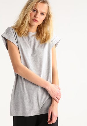 ALVA PLAIN TEE - Jednoduché triko - light grey melange
