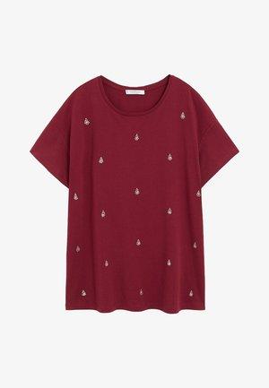 EASYLUX - Print T-shirt - donkerrood