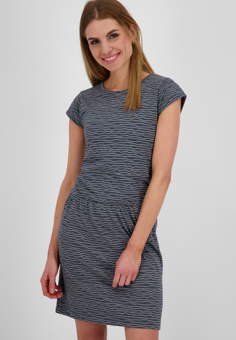 alife & kickin - SHANNAAK - Jersey dress - marine