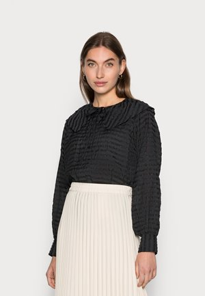MAURICE - Button-down blouse - black