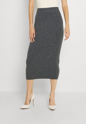 VOLVIC MIDI SKIRT - Pencil skirt - dark grey