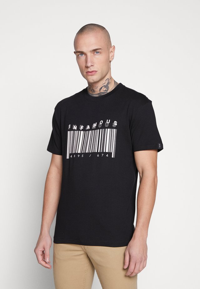 UNISEX PRINTED SLOGAN CASH TEE - Print T-shirt - black