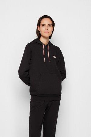 ZEBRA HOODIE - Sweatshirt - black