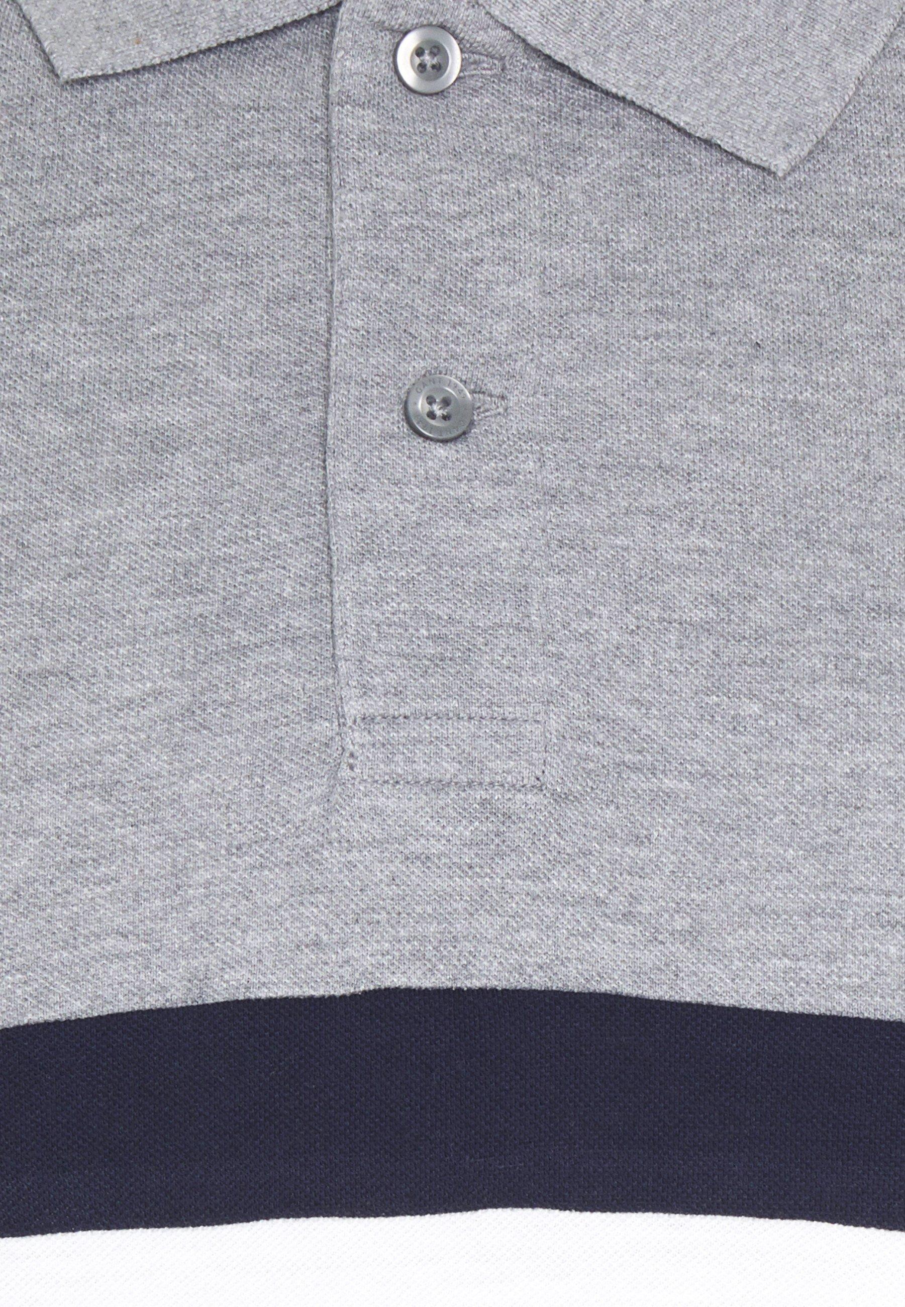 GANT STRIPES RUGGER - Polo - grey melange