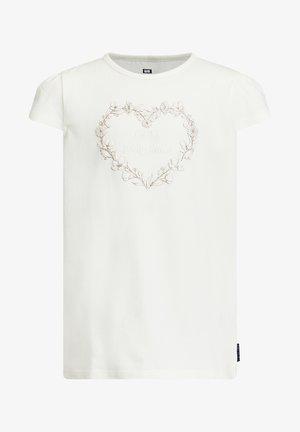 MET APPLICATIE - Print T-shirt - white
