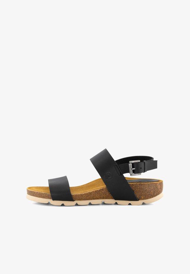 VERA  - Sandalen met sleehak - black