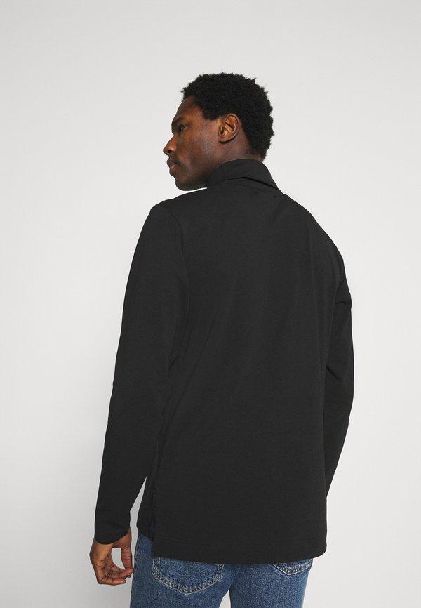 Calvin Klein ROLL NECK LONG SLEEVE - Bluzka z długim rękawem - black/czarny Odzież Męska IBTX