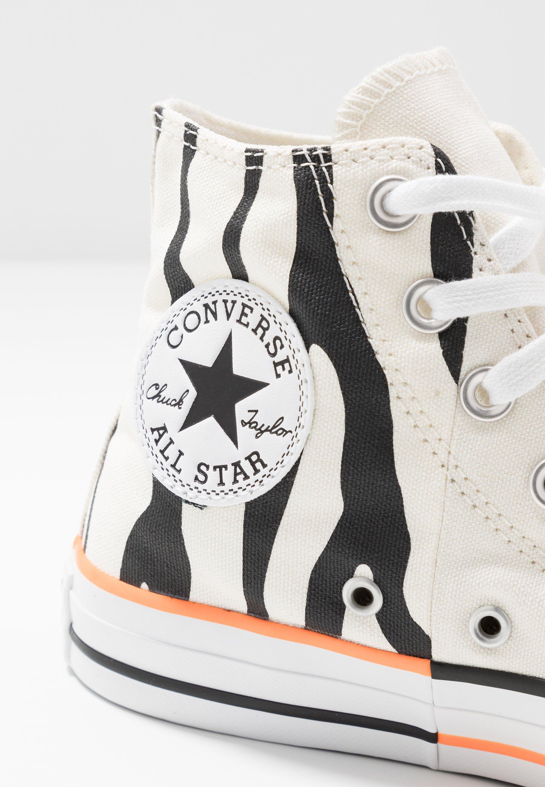 Converse CHUCK TAYLOR ALL STAR - Høye joggesko - egret/total orange/black