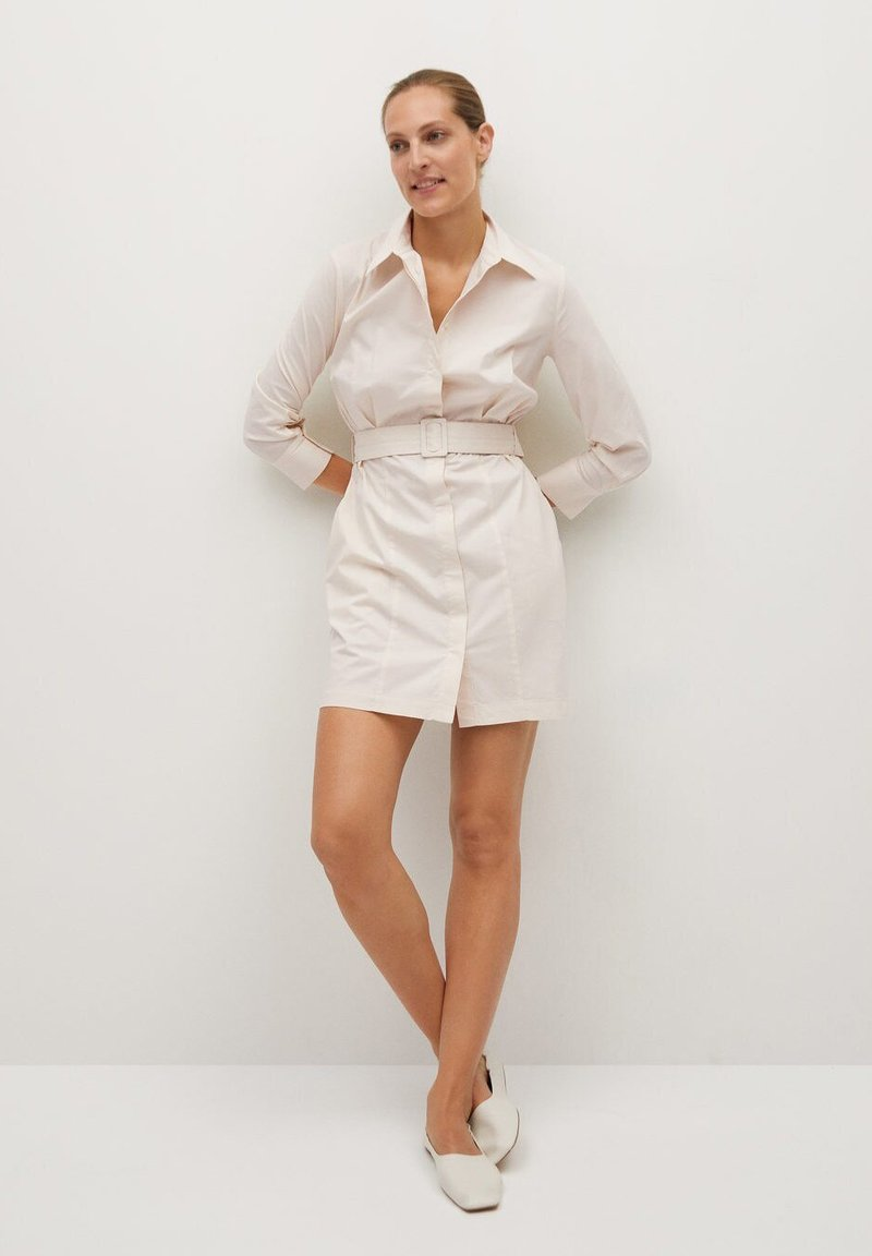 Mango - MEXI - Shirt dress - beige