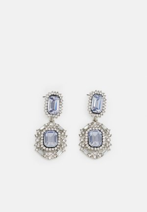 PCMELANY EARRINGS - Ohrringe - silver-coloured/clear/blue