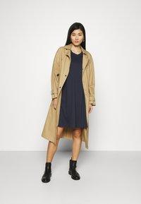 GANT - A LINE DRESS - Jersey dress - evening blue - 1