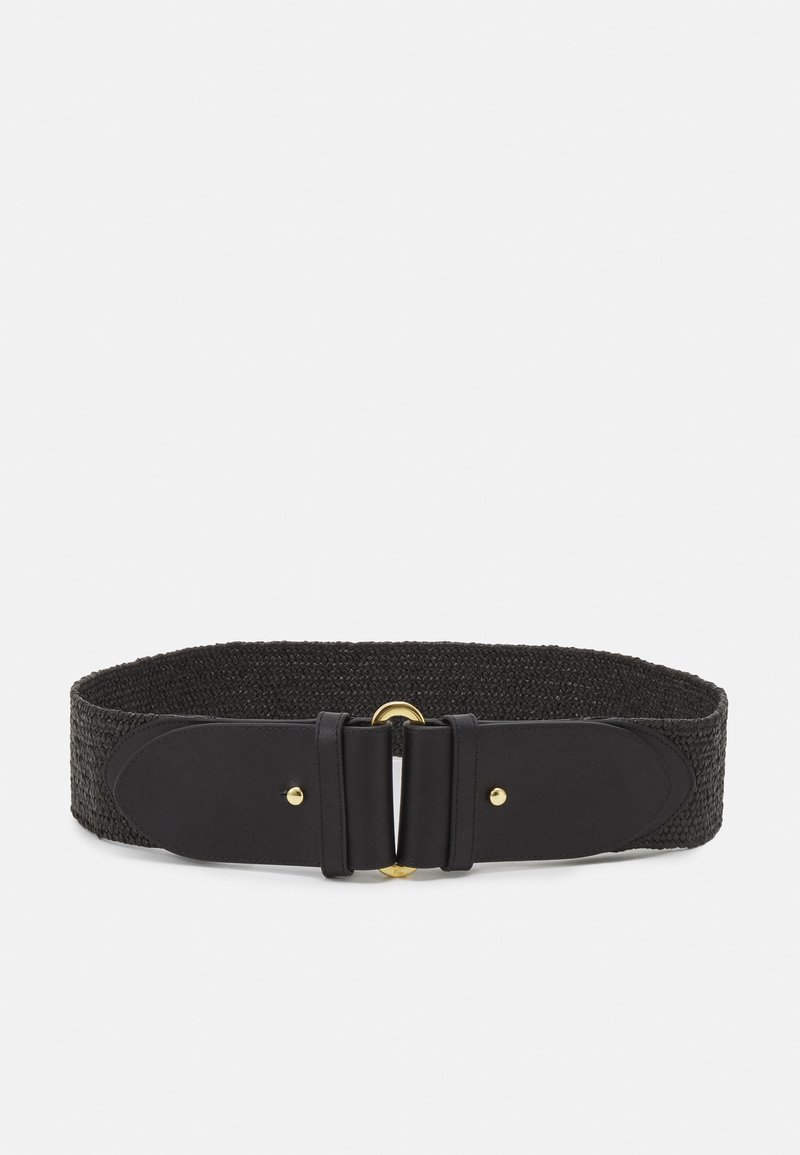 Lauren Ralph Lauren - STRETCH STRAW STRETCH - Belt - black