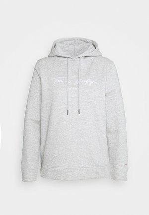 SCRIPT HOODIE - Jersey con capucha - light grey heather