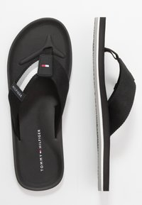 Tommy Hilfiger - SPORTY CORPORATE BEACH  - T-bar sandals - black - 1