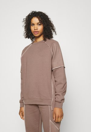 EXPOSED SEAM - Sweatshirt - taupe