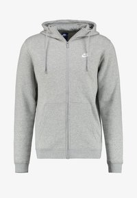 Nike Sportswear - CLUB FULL ZIP HOODIE - Sudadera con cremallera - dark grey heather/white - 4