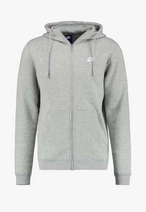 CLUB FULL ZIP HOODIE - Sudadera con cremallera - dark grey heather/white