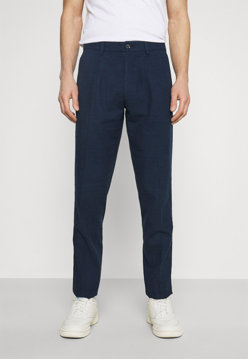 Tommy Hilfiger Tailored - PLEAT - Trousers - desert sky