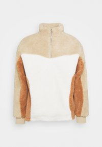 BLOCKED BORG - Fleece jumper - stone