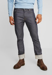 Amsterdenim - REMBRANDT SELVEDGE - Straight leg jeans - rauw blauw - 0