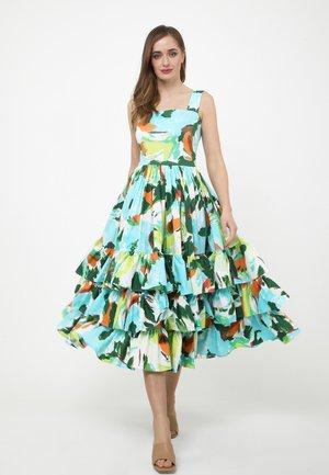 Day dress - weiß, hellblau