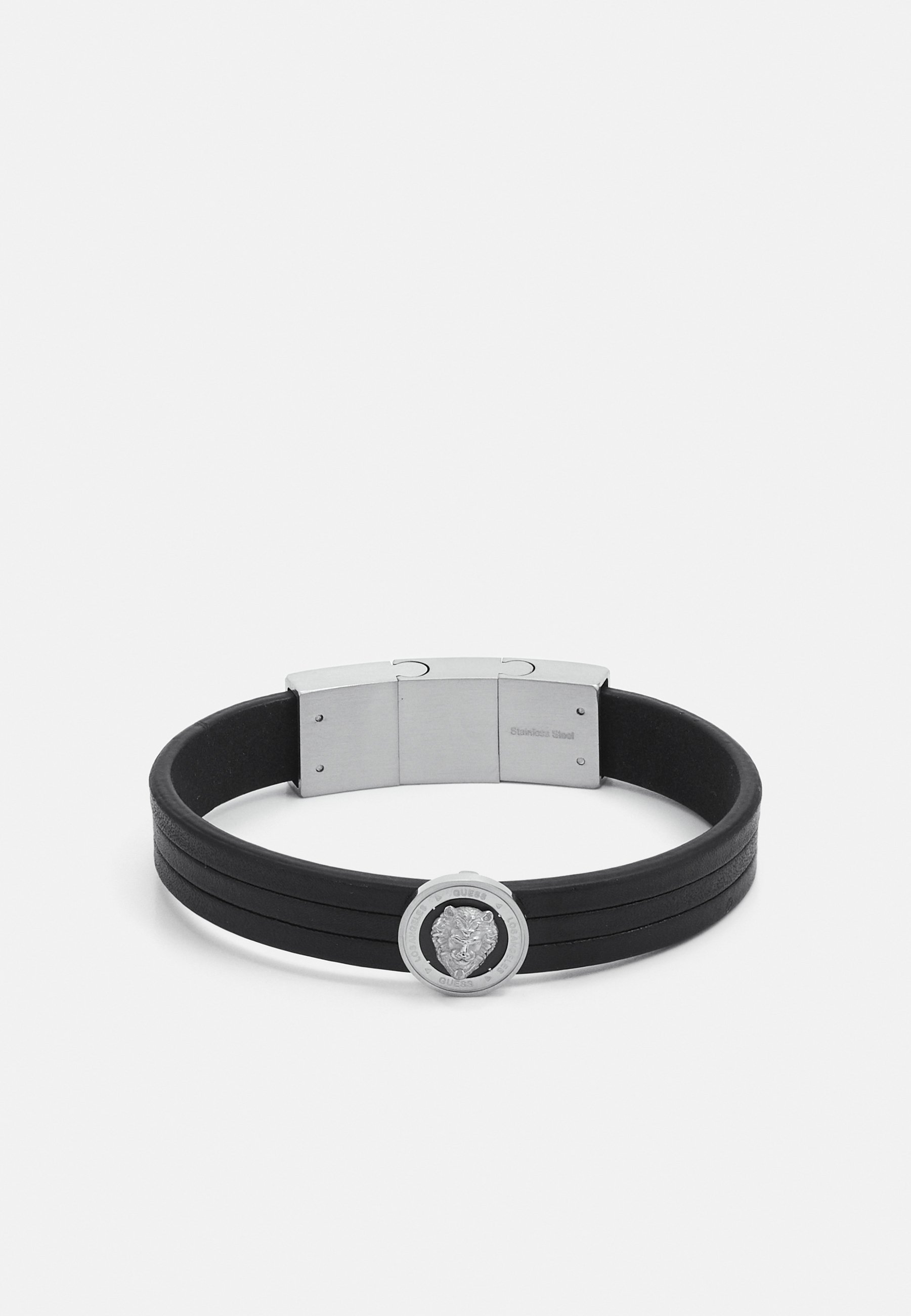 Homme LION COIN LEATHER BRACELET - Bracelet