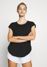 Cotton On Body - ACTIVE SCOOP HEM - Camiseta de deporte - black - 0