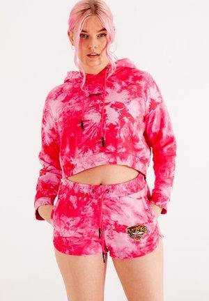 LOS-TIGRE CROP  - Sweat à capuche - hot pink