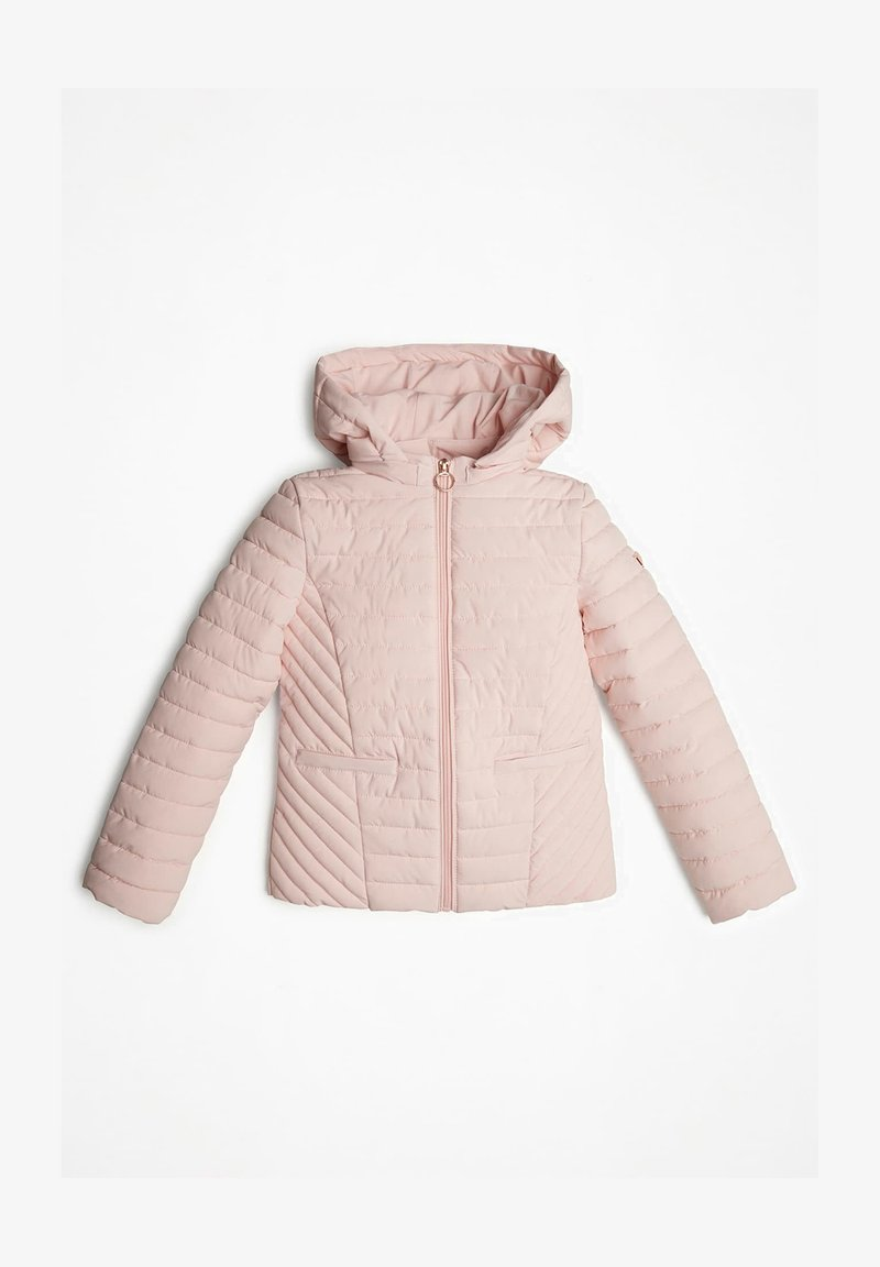Guess - MIT ABNHEMBARER KAPUZE - Veste d'hiver - rose